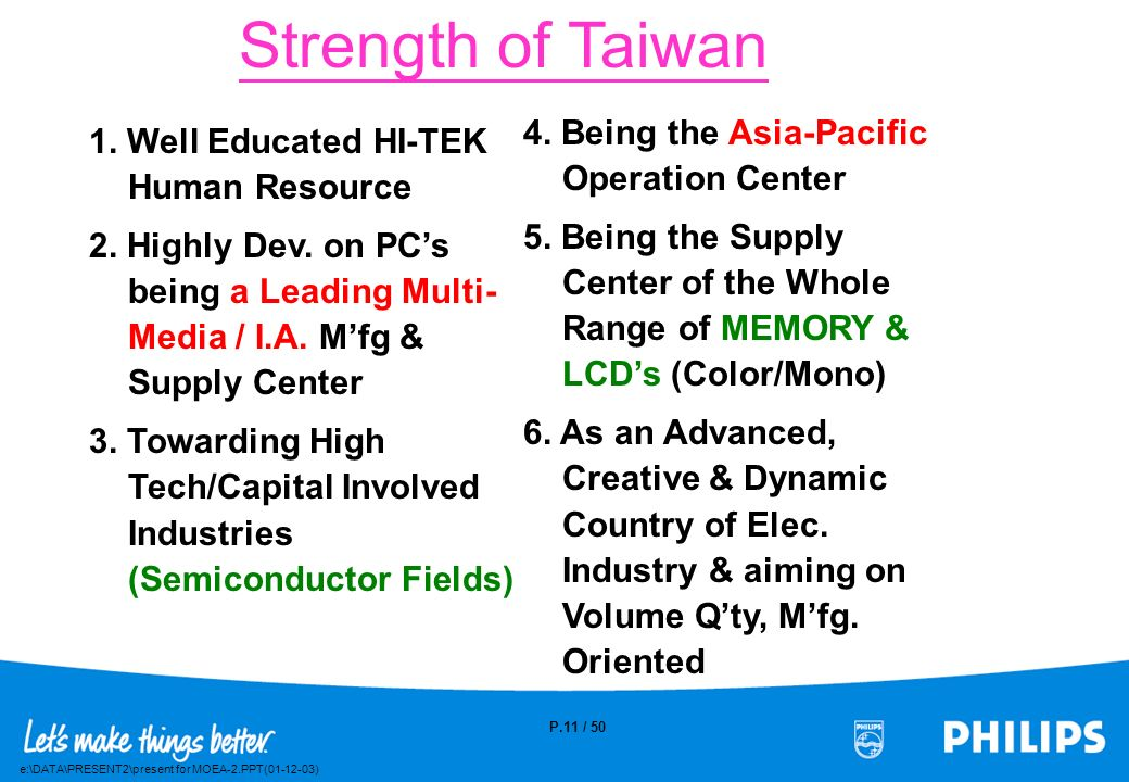 Strength of Taiwan 4. Being the Asia-Pacific Operation Center