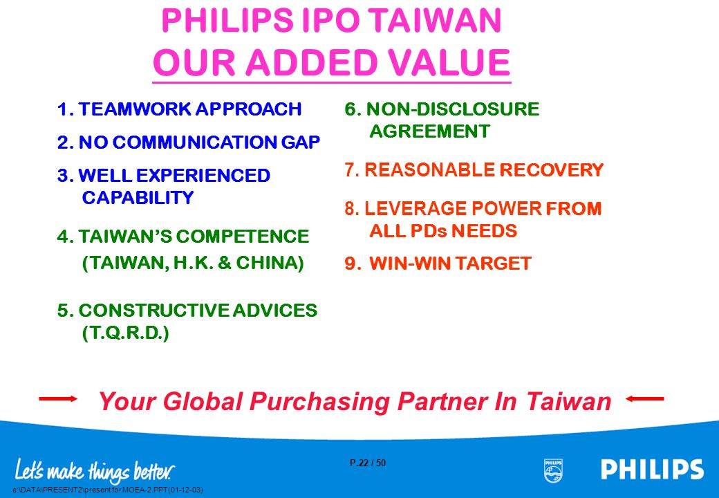 Your Global Purchasing Partner In Taiwan