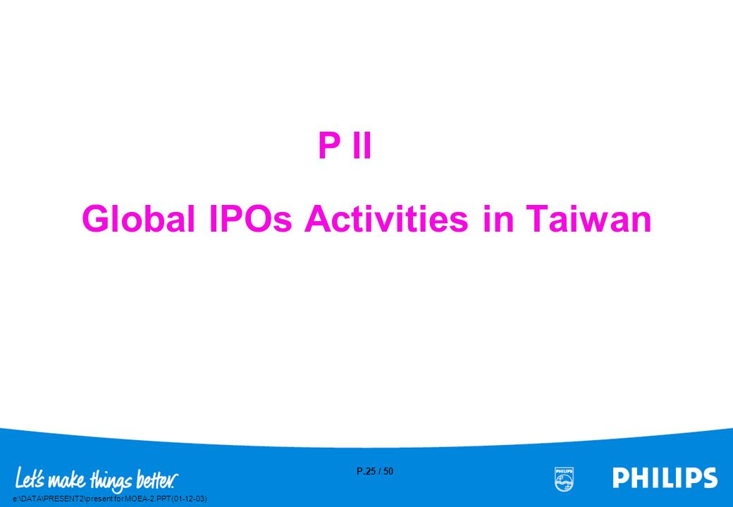 Global IPOs Activities in Taiwan