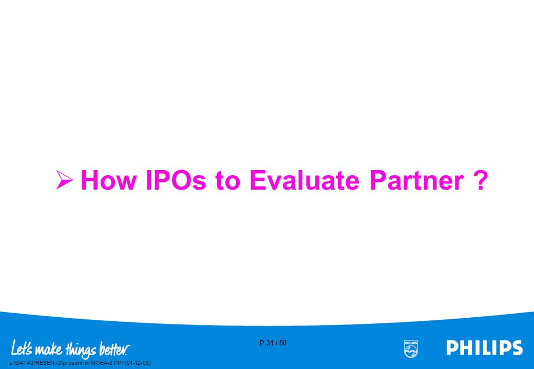 How IPOs to Evaluate Partner