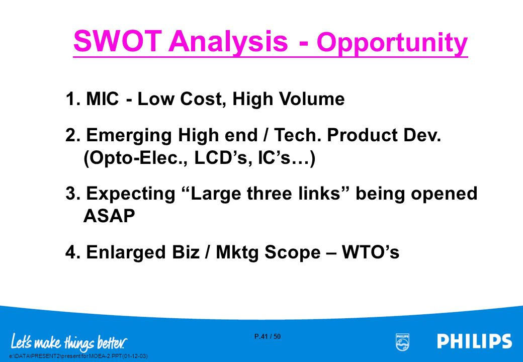 SWOT Analysis - Opportunity