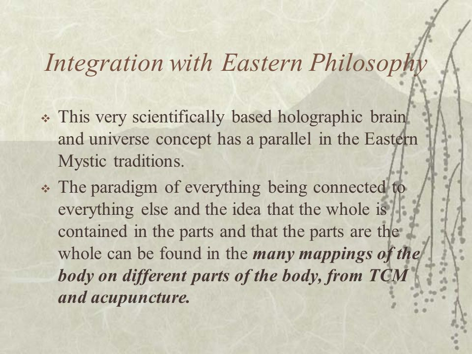 Integration with Eastern Philosophy