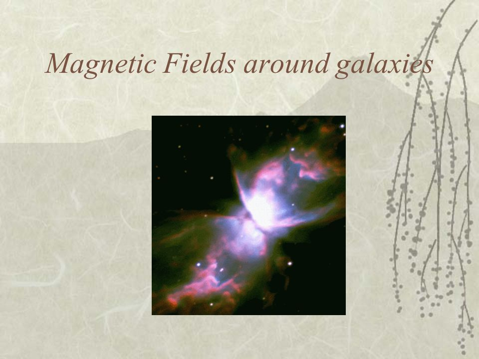 Magnetic Fields around galaxies