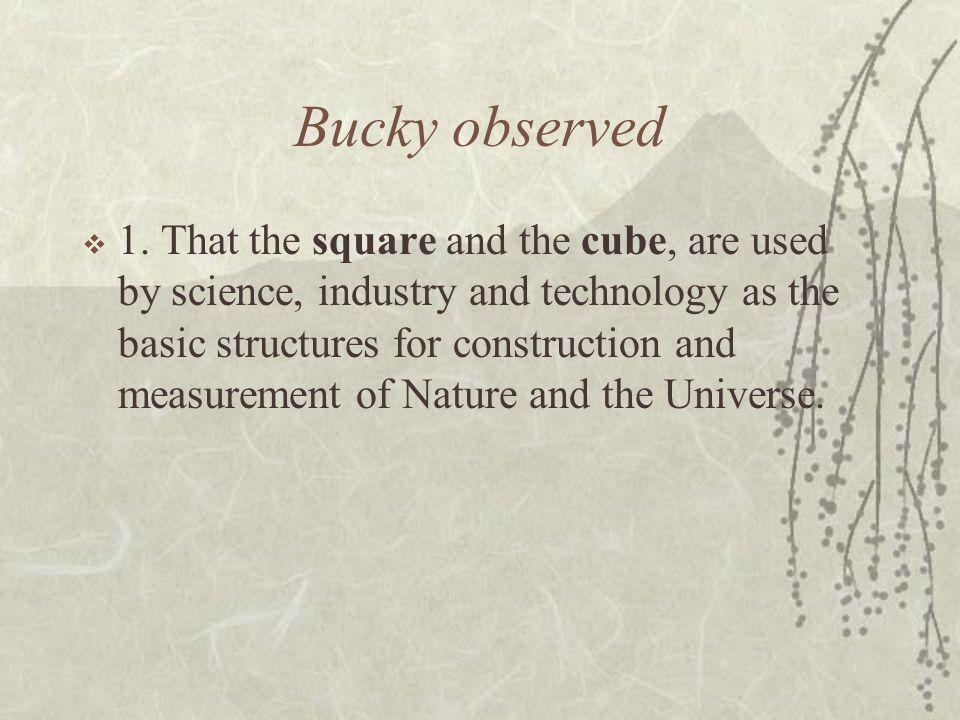 Bucky observed