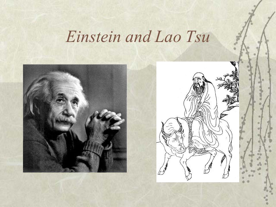Einstein and Lao Tsu