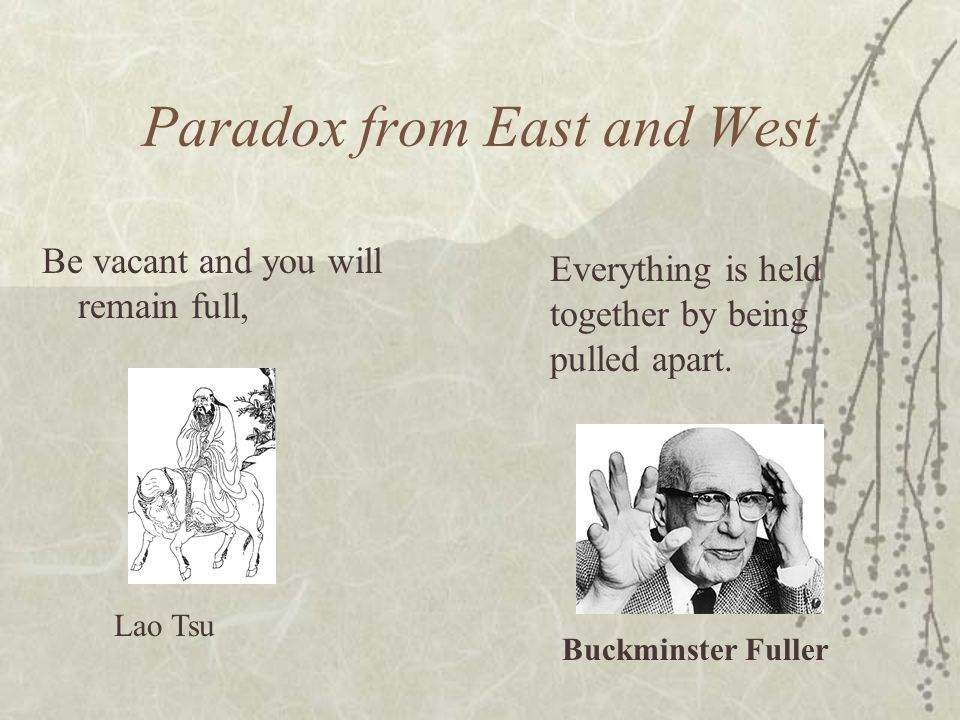 Paradox from East and West