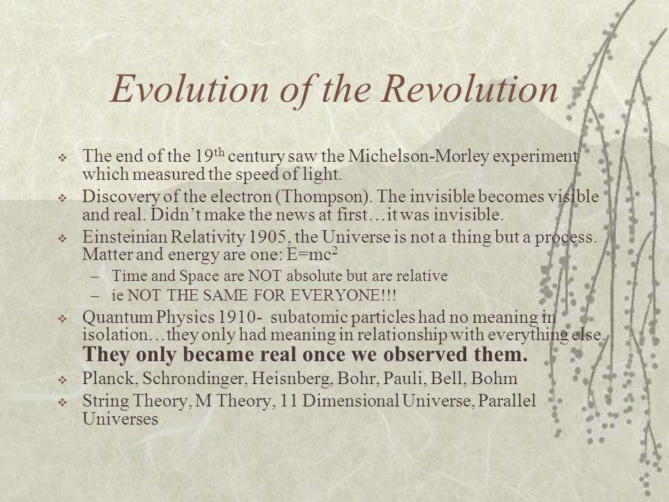 Evolution of the Revolution
