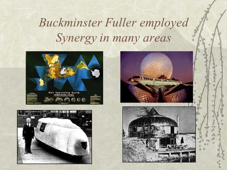 Buckminster Fuller employed Synergy in many areas