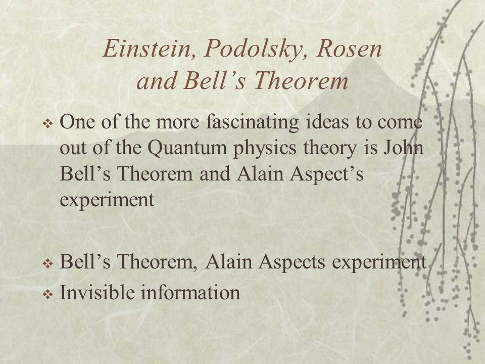 Einstein, Podolsky, Rosen and Bell's Theorem