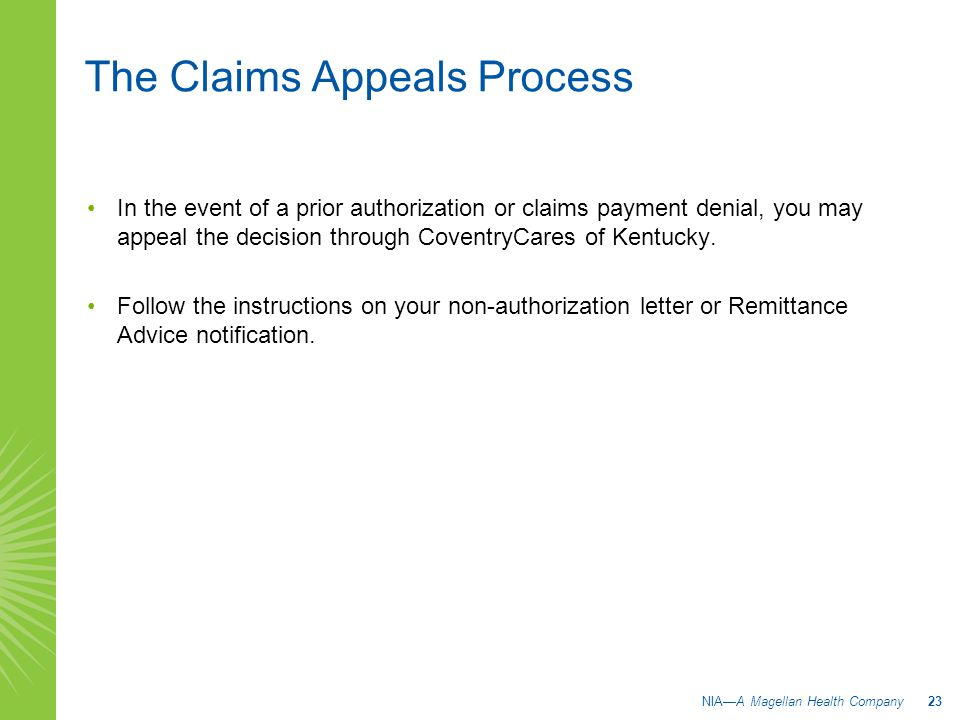 The Claims Appeals Process
