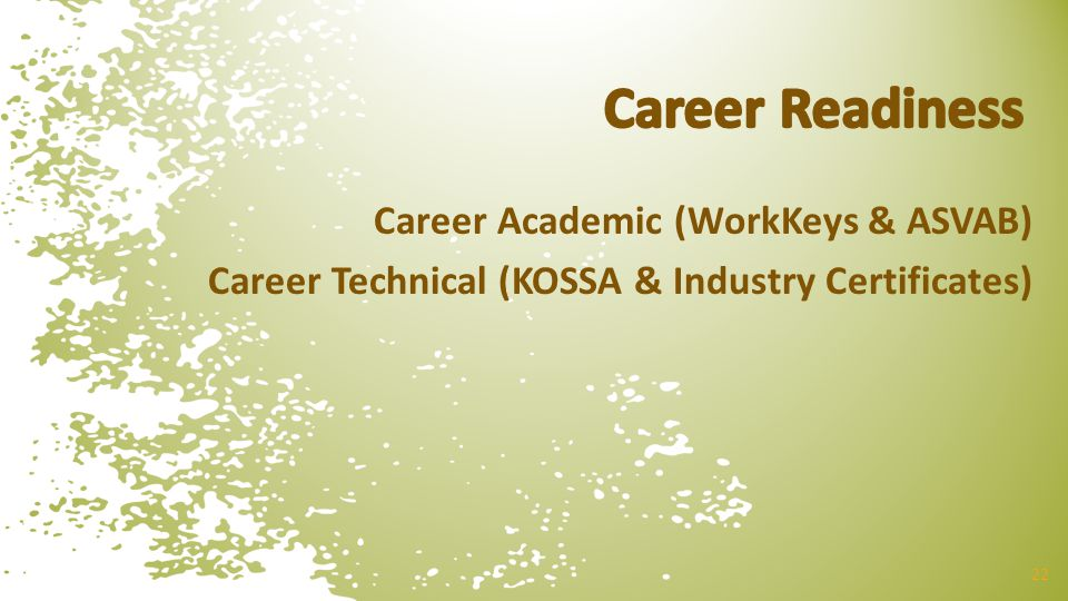 Career Readiness Career Academic (WorkKeys & ASVAB)