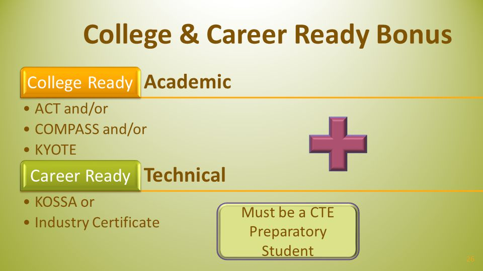 College & Career Ready Bonus