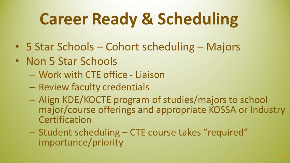 Career Ready & Scheduling