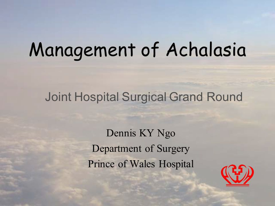Management of Achalasia