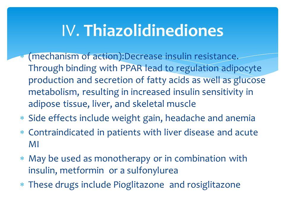IV. Thiazolidinediones