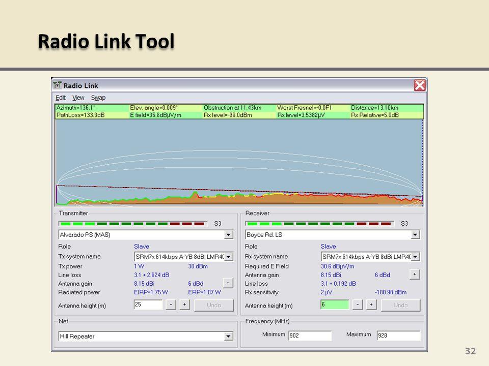 Radio Link Tool