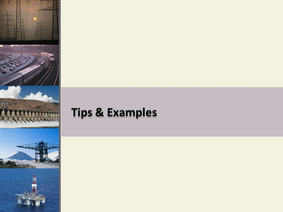 Tips & Examples