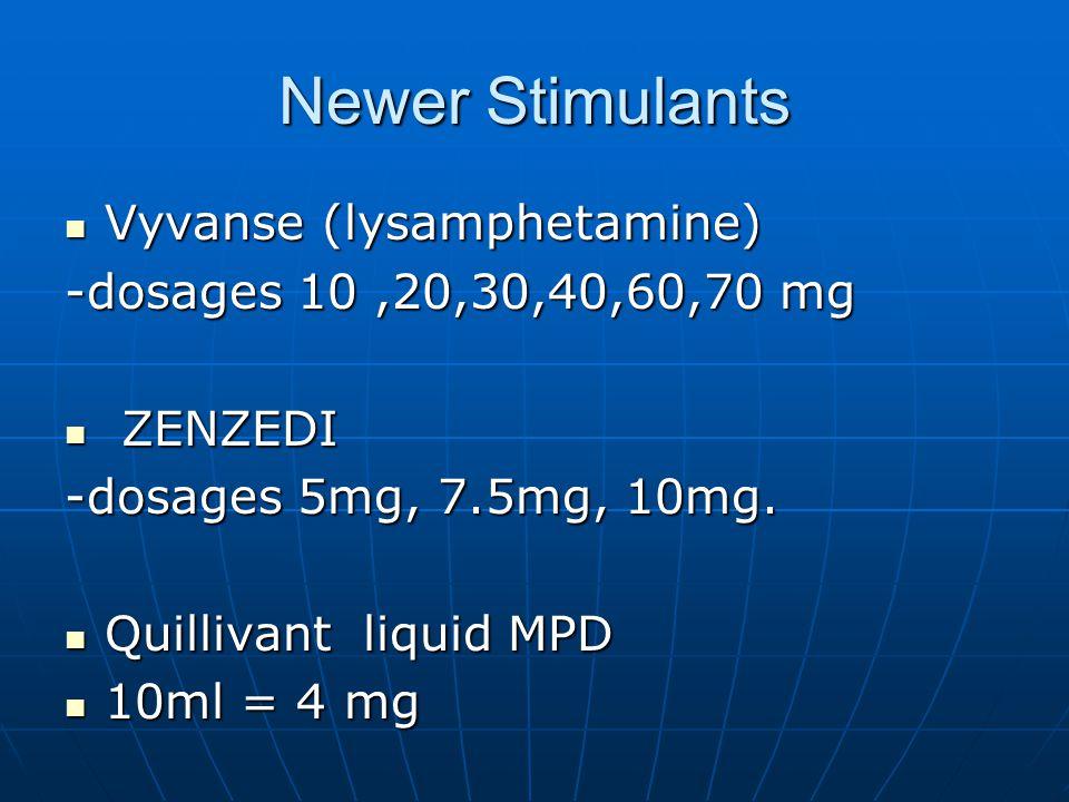 Newer Stimulants Vyvanse (lysamphetamine)