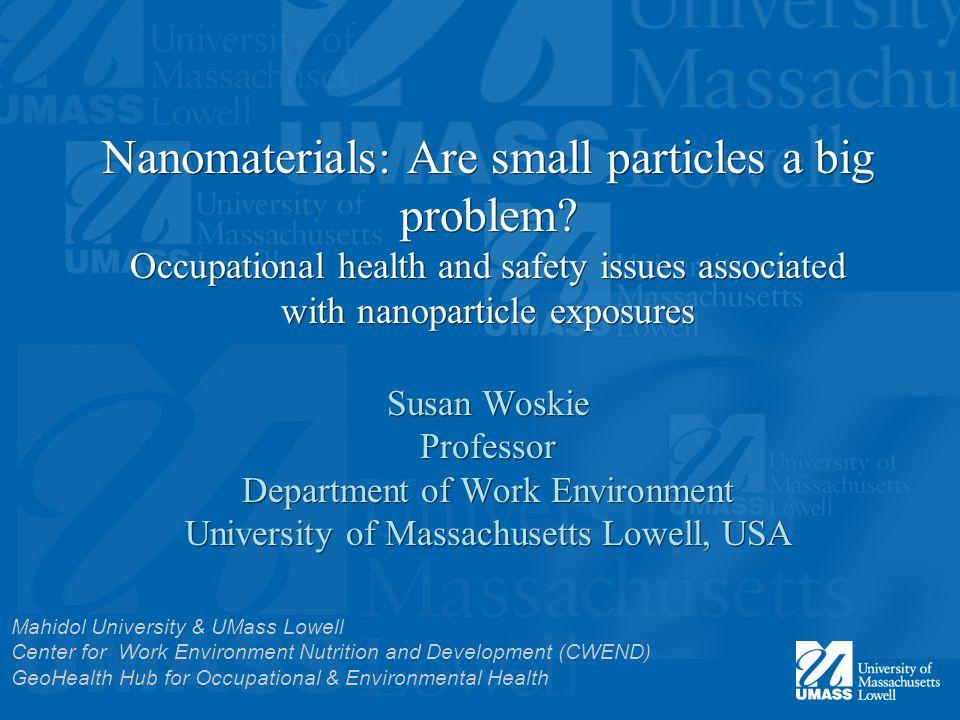 Nanomaterials: Are small particles a big problem