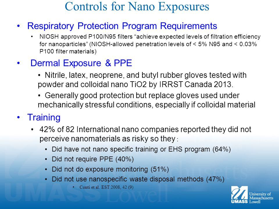 Controls for Nano Exposures