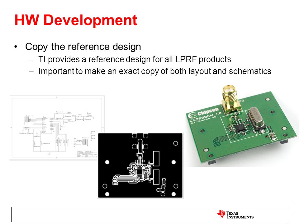 HW Development Copy the reference design