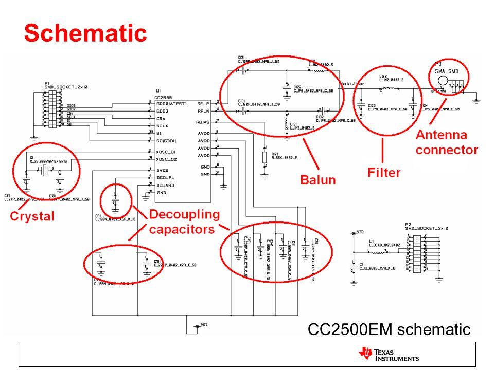 Schematic CC2500EM schematic
