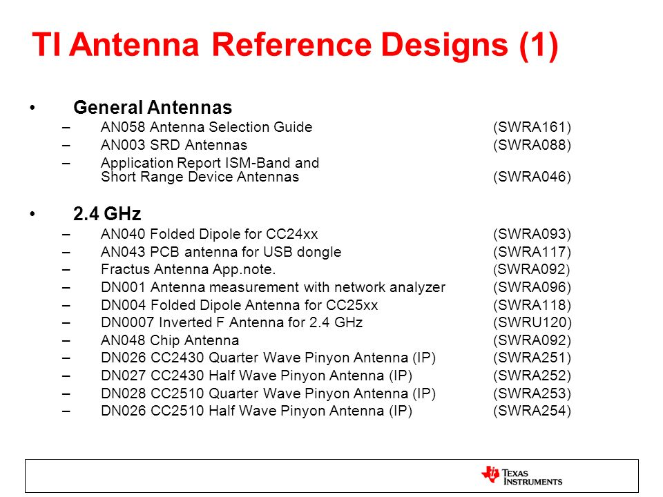 TI Antenna Reference Designs (1)