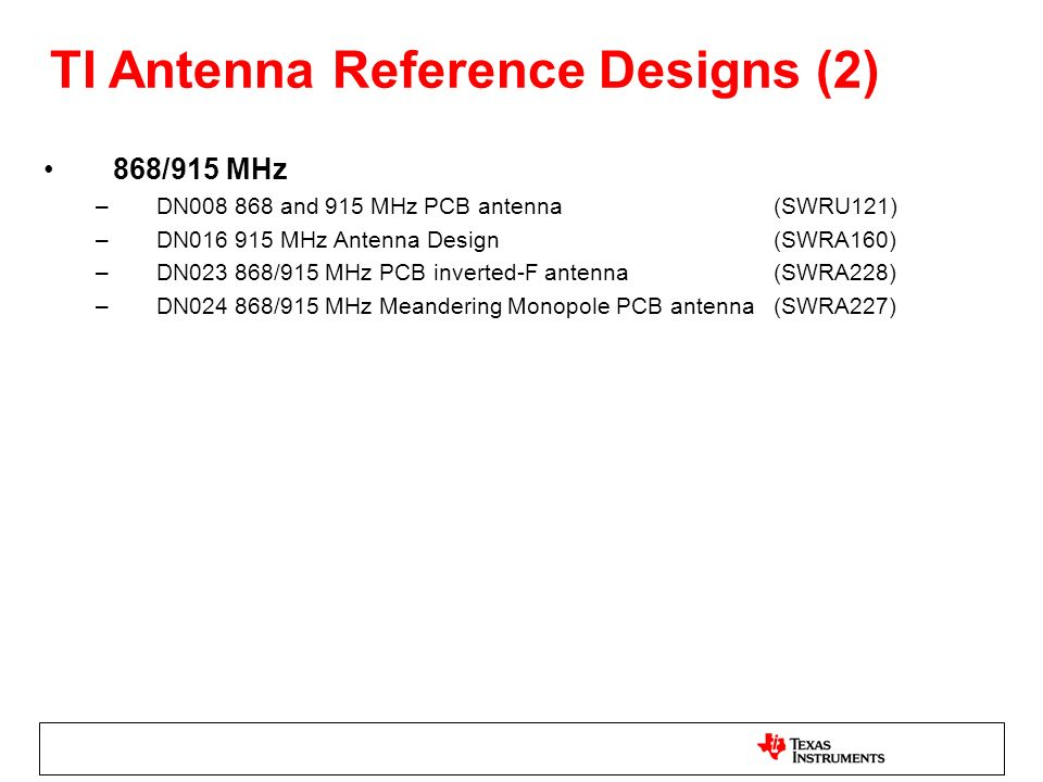 TI Antenna Reference Designs (2)
