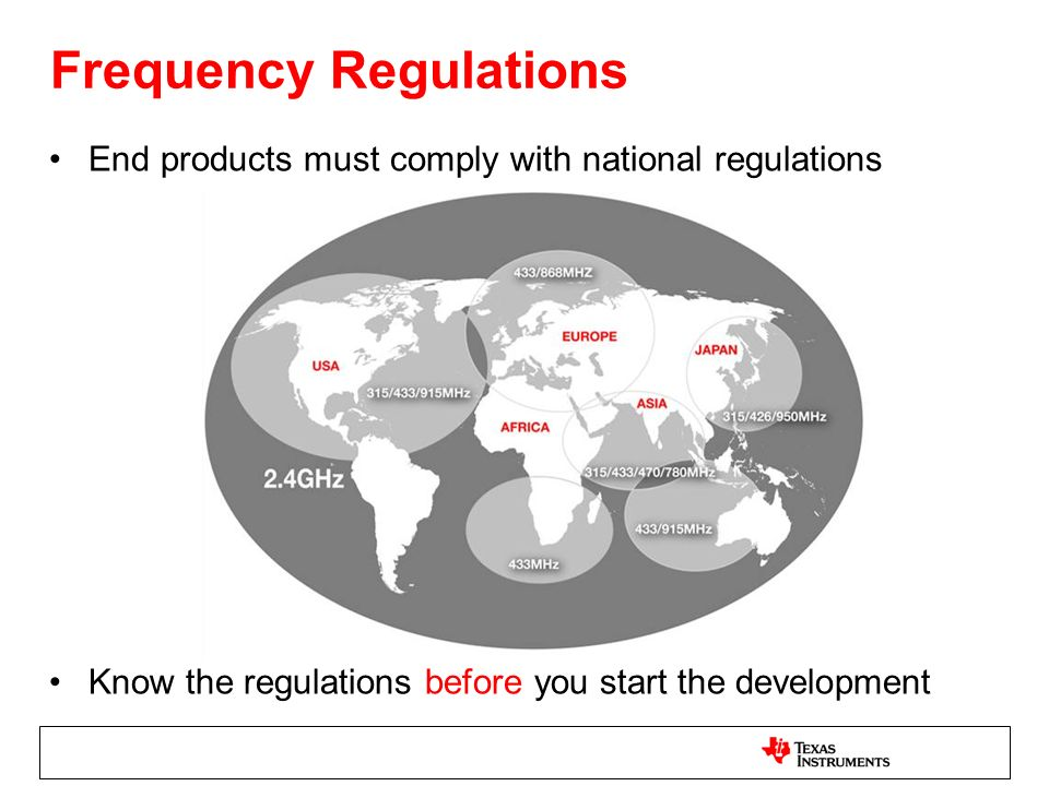 Frequency Regulations