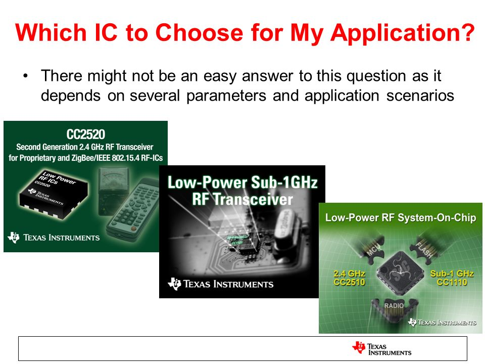 Which IC to Choose for My Application