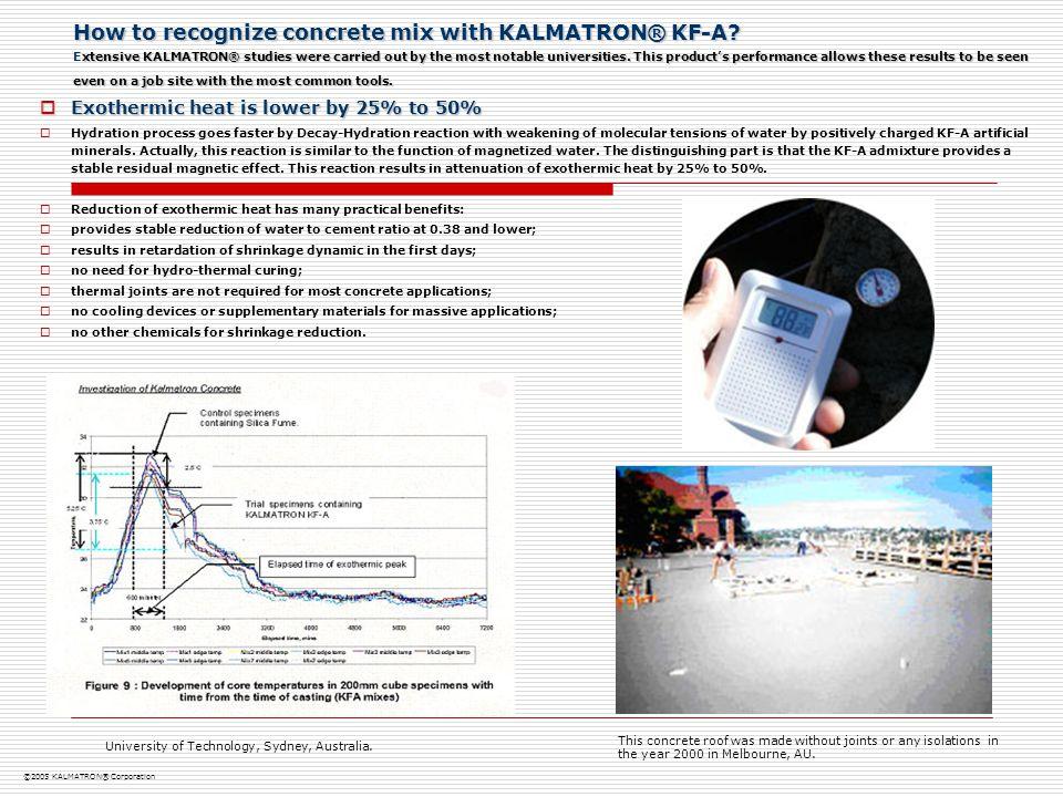 How to recognize concrete mix with KALMATRON® KF-A