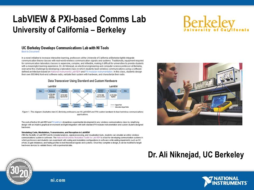 LabVIEW & PXI-based Comms Lab University of California – Berkeley