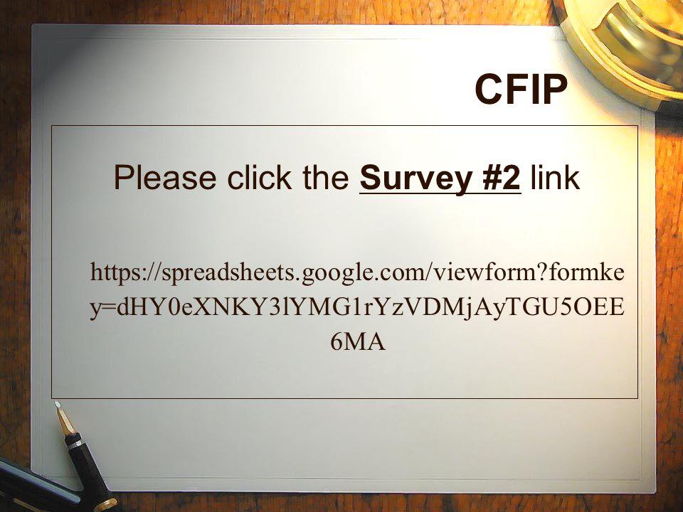 Please click the Survey #2 link