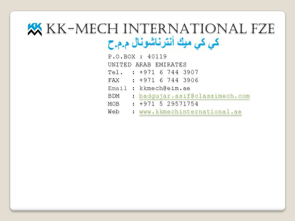 KK-MECH INTERNATIONAL FZE