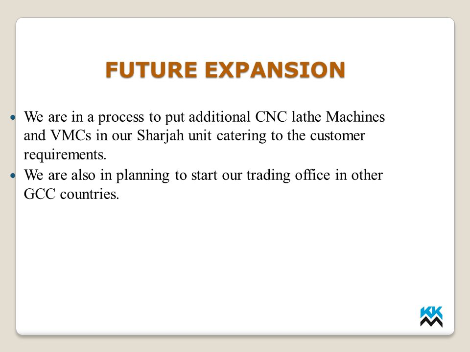 LMP INDUSTRIES FUTURE EXPANSION.