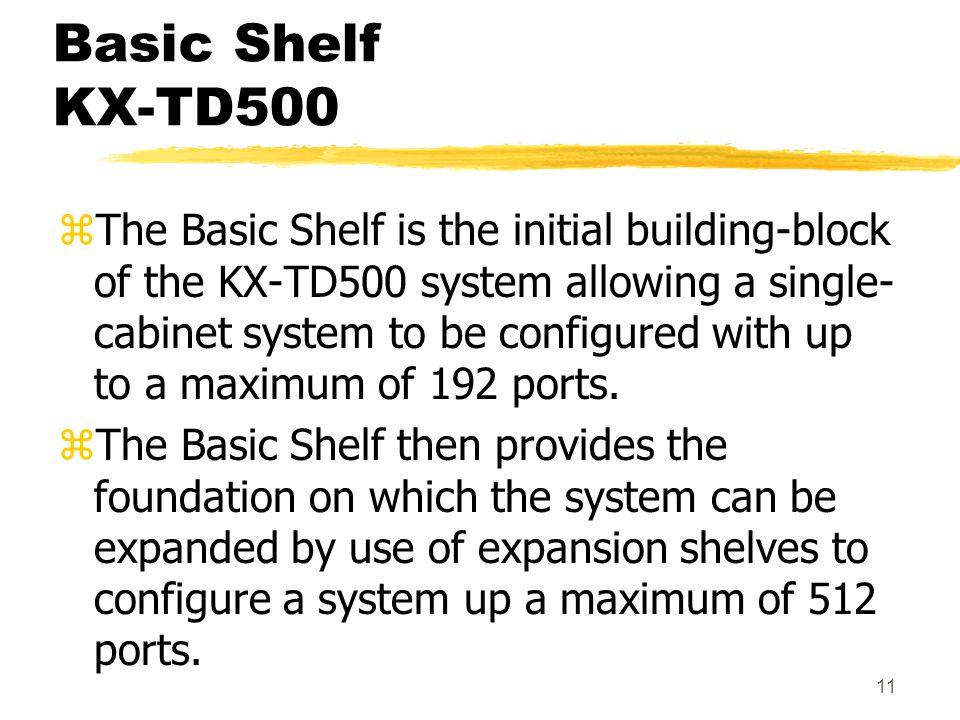Basic Shelf KX-TD500