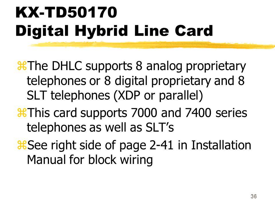 KX-TD50170 Digital Hybrid Line Card