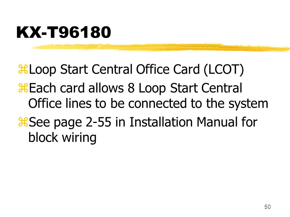 KX-T96180 Loop Start Central Office Card (LCOT)
