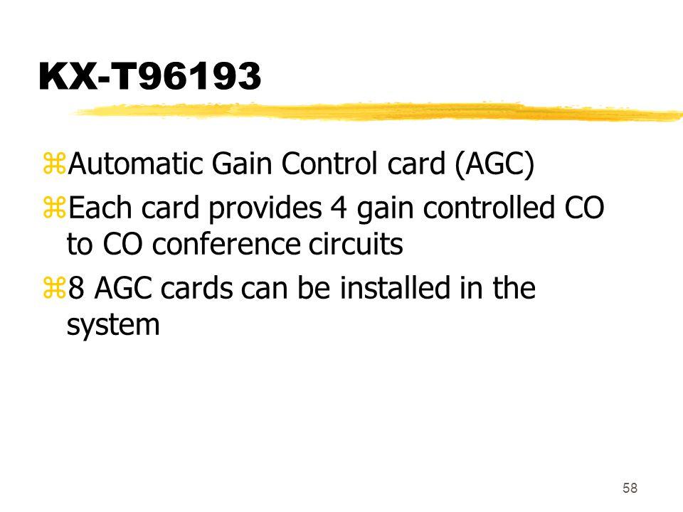 KX-T96193 Automatic Gain Control card (AGC)