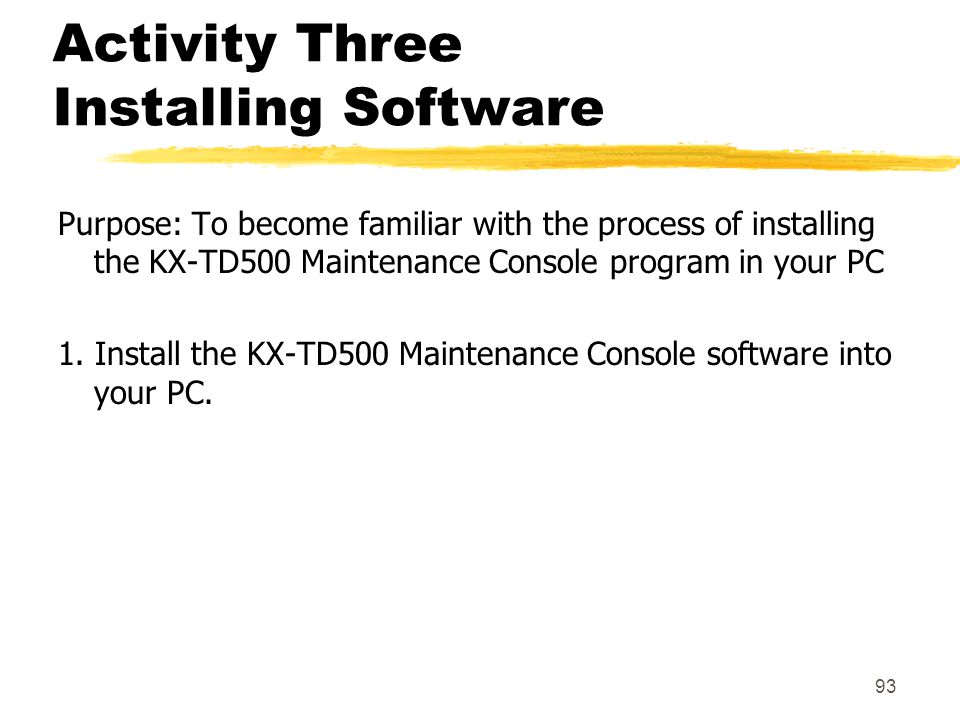 Activity Three Installing Software