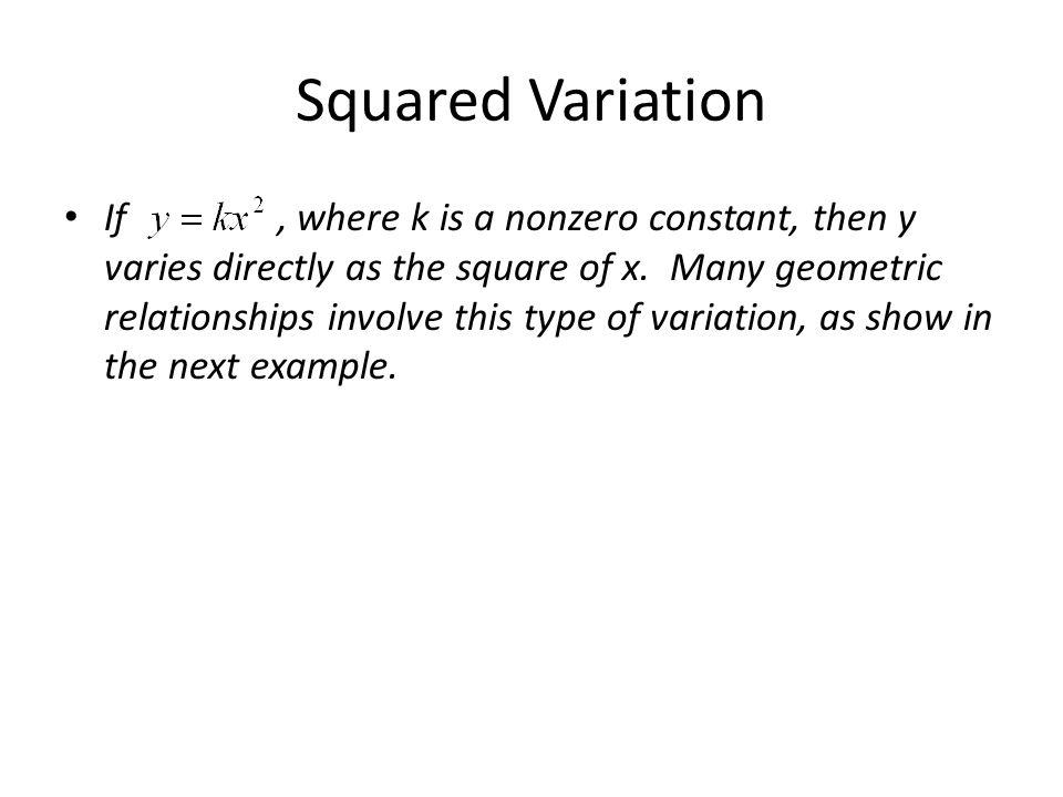 Squared Variation