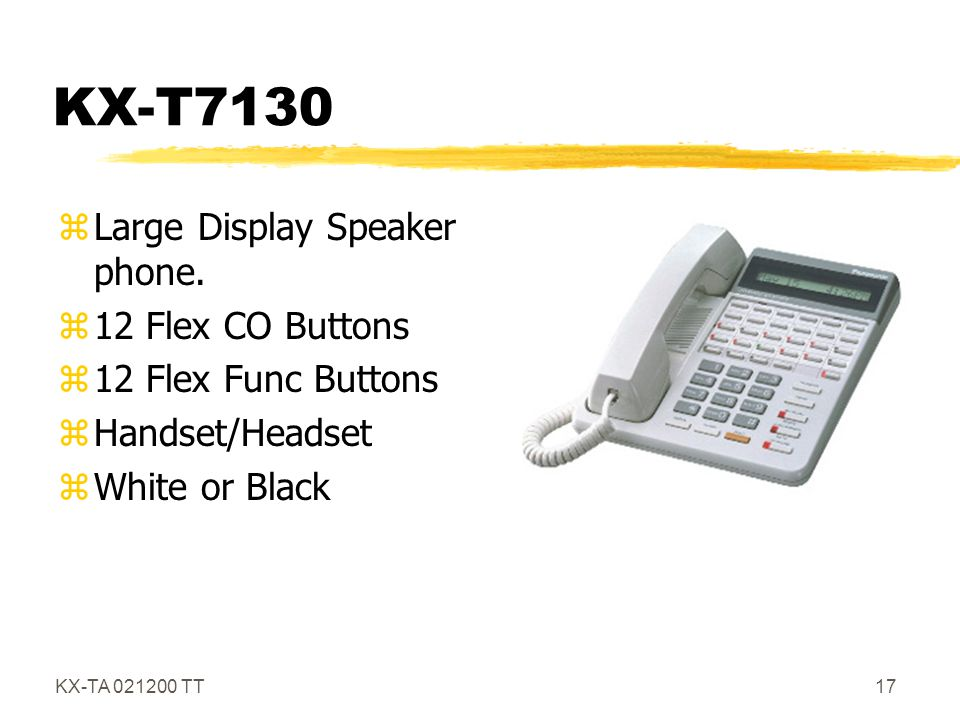 KX-T7130 Large Display Speaker phone. 12 Flex CO Buttons