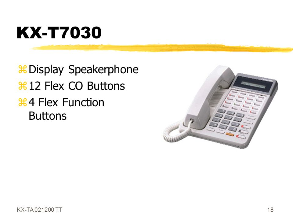 KX-T7030 Display Speakerphone 12 Flex CO Buttons
