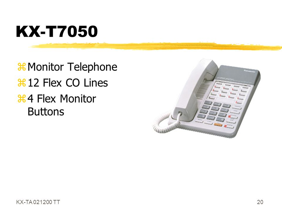 KX-T7050 Monitor Telephone 12 Flex CO Lines 4 Flex Monitor Buttons