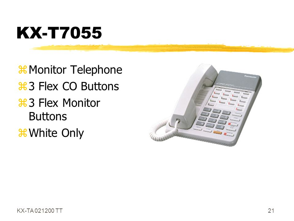 KX-T7055 Monitor Telephone 3 Flex CO Buttons 3 Flex Monitor Buttons