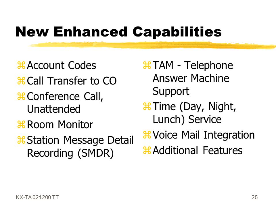New Enhanced Capabilities