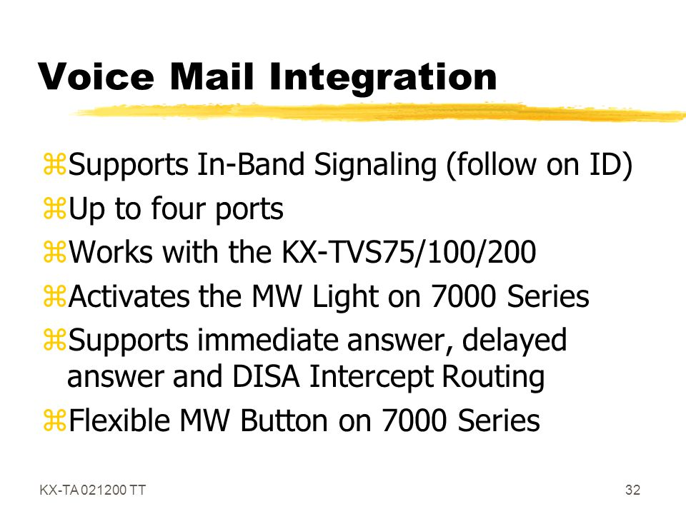 Voice Mail Integration