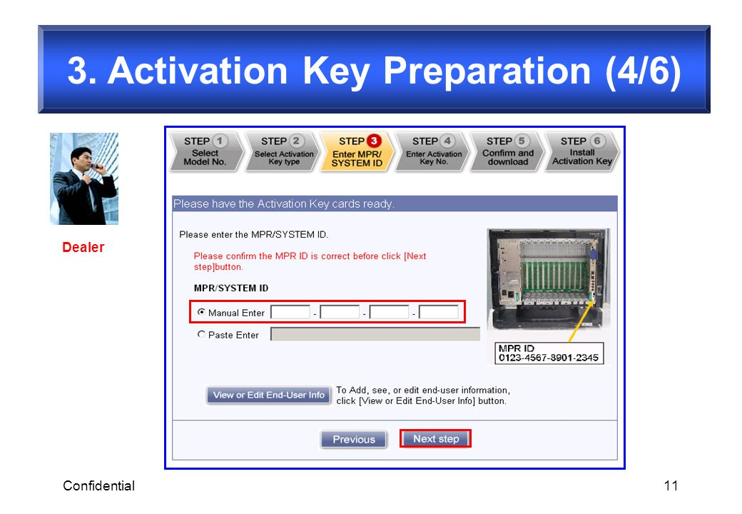 3. Activation Key Preparation (4/6)