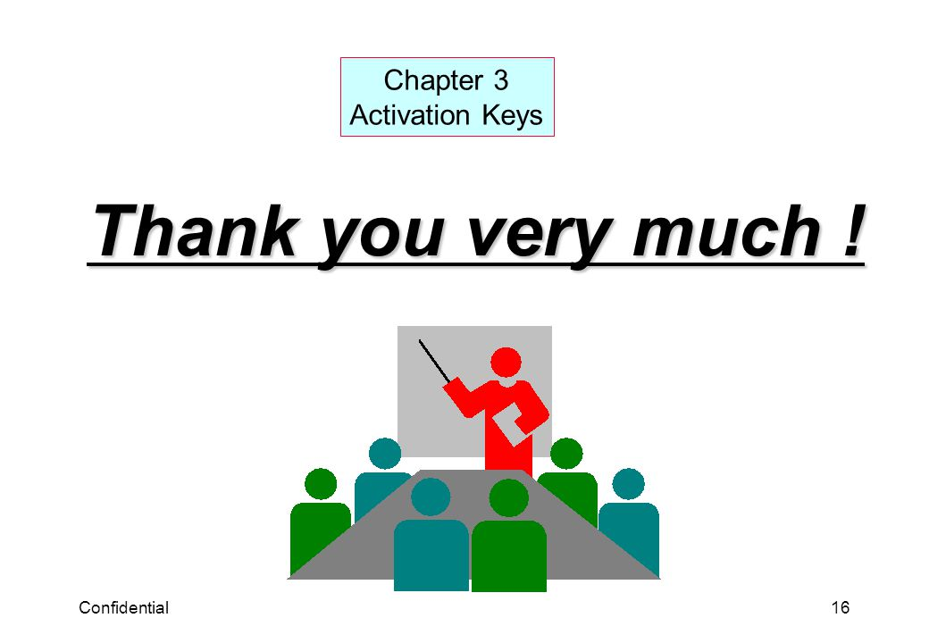 Chapter 3 Activation Keys