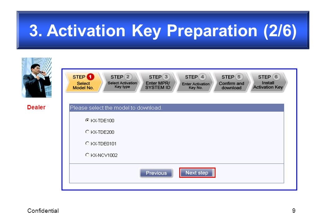 3. Activation Key Preparation (2/6)